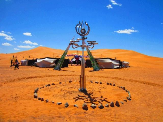 LUGU Test Area (FR/PT) at Transahara Festival (Morocco)