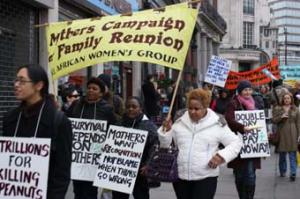 A Mothers' Campaign protest in London for reuniting families from war-torn countries.