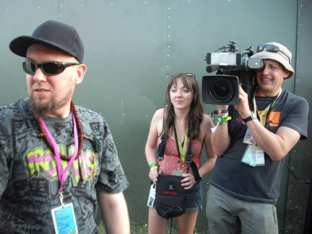 Being filmed by the BBC at Glastonbury (2010)