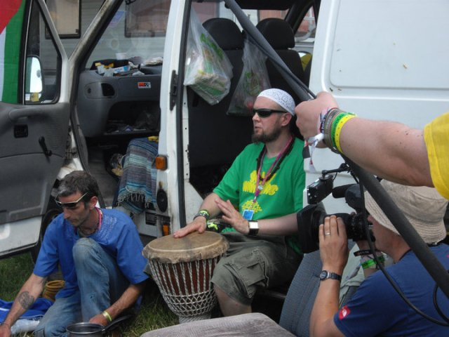 Random jam session with band being filmed by BBC (Glastonbury 2010)