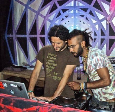Shane (left) and Babak performing as Akasha